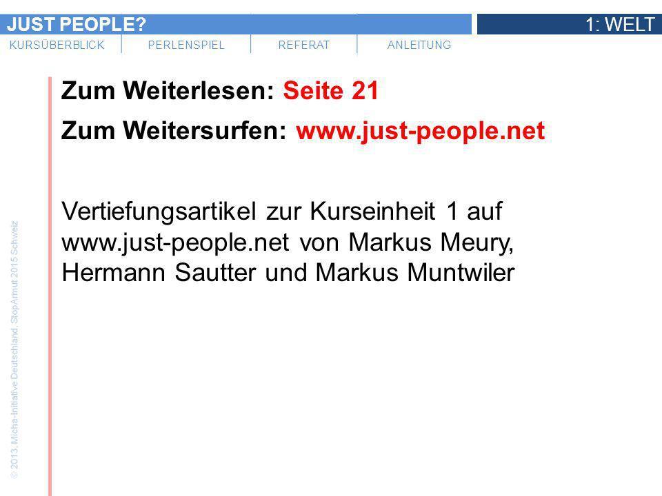 Zum Weiterlesen: Seite 21 Zum Weitersurfen: www. just-people