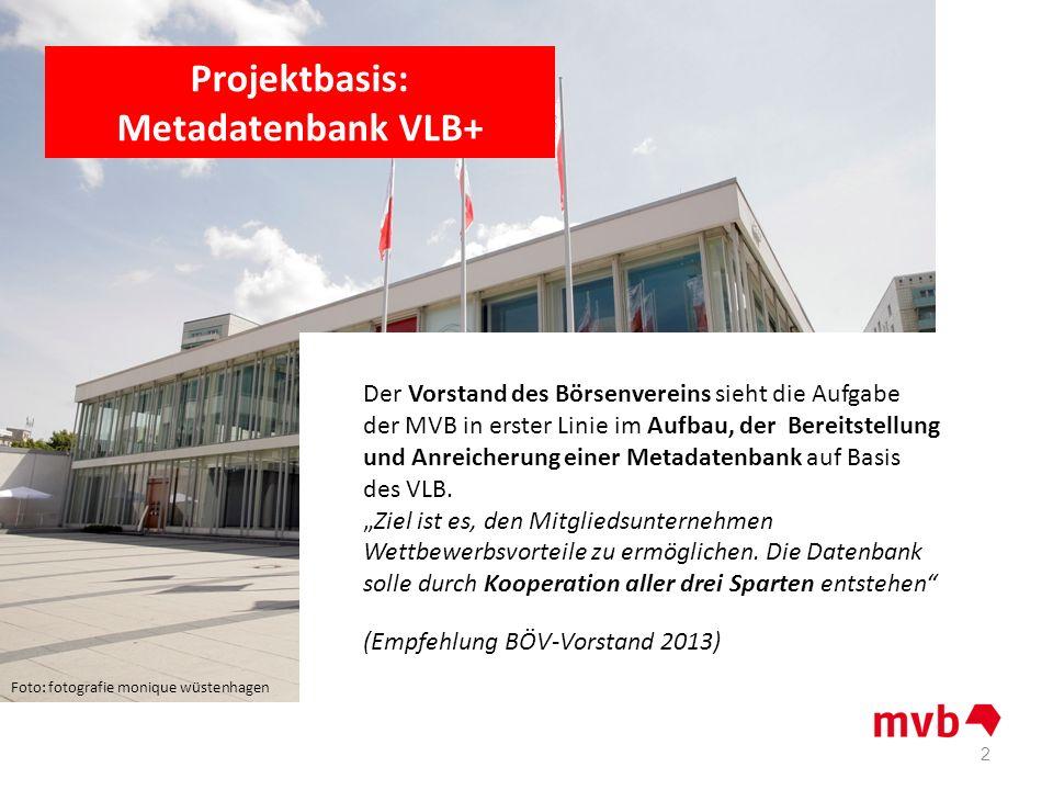 Projektbasis: Metadatenbank VLB+