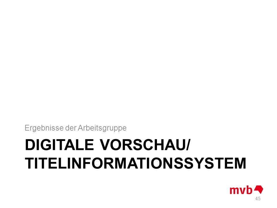 Digitale Vorschau/ Titelinformationssystem