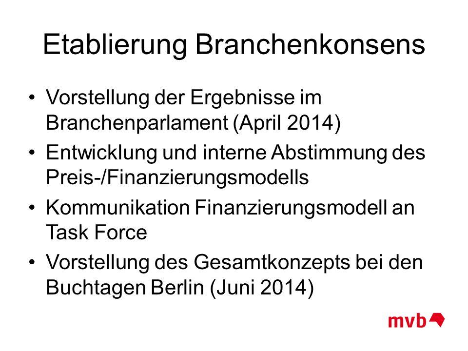 Etablierung Branchenkonsens