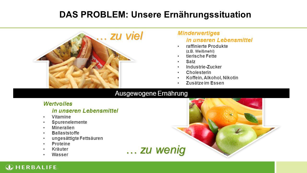 DAS PROBLEM: Unsere Ernährungssituation