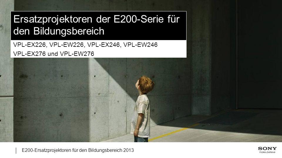 Ersatzprojektoren der E200-Serie für den Bildungsbereich