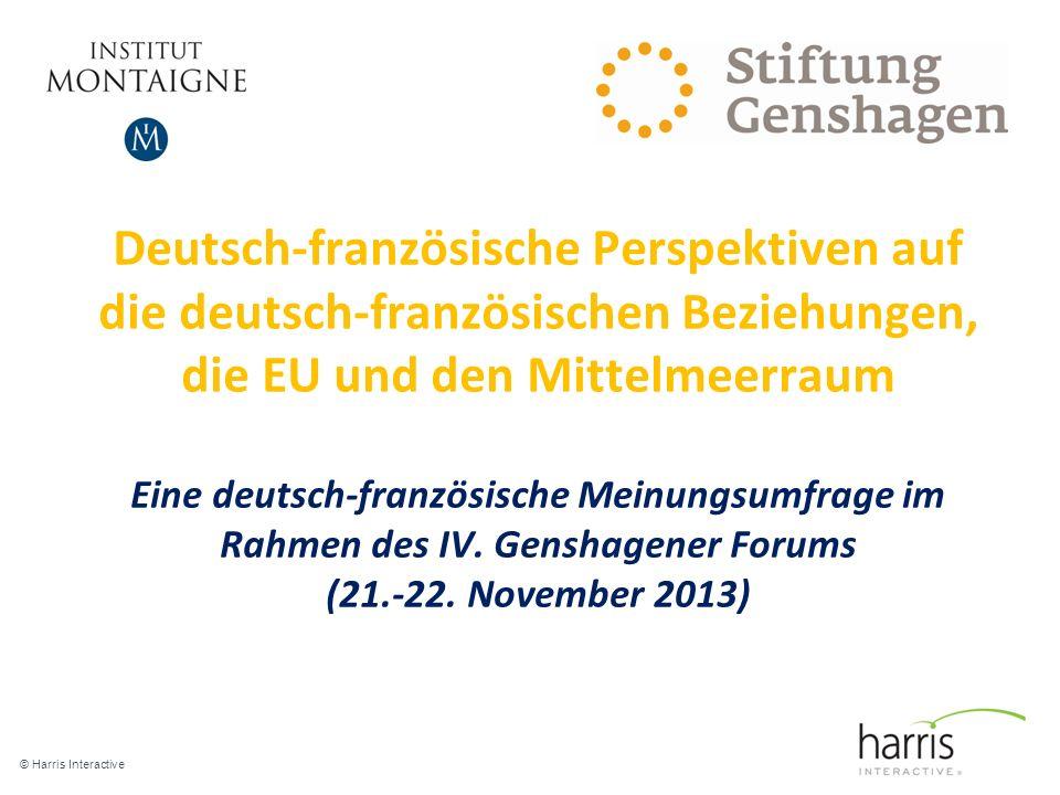 Deutsch-französische Perspektiven auf die deutsch-französischen Beziehungen, die EU und den Mittelmeerraum Eine deutsch-französische Meinungsumfrage im Rahmen des IV. Genshagener Forums (21.-22. November 2013)
