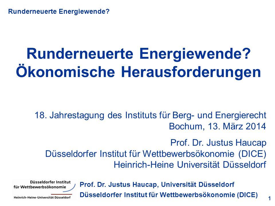 Runderneuerte Energiewende Ökonomische Herausforderungen