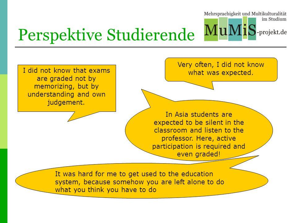 Perspektive Studierende