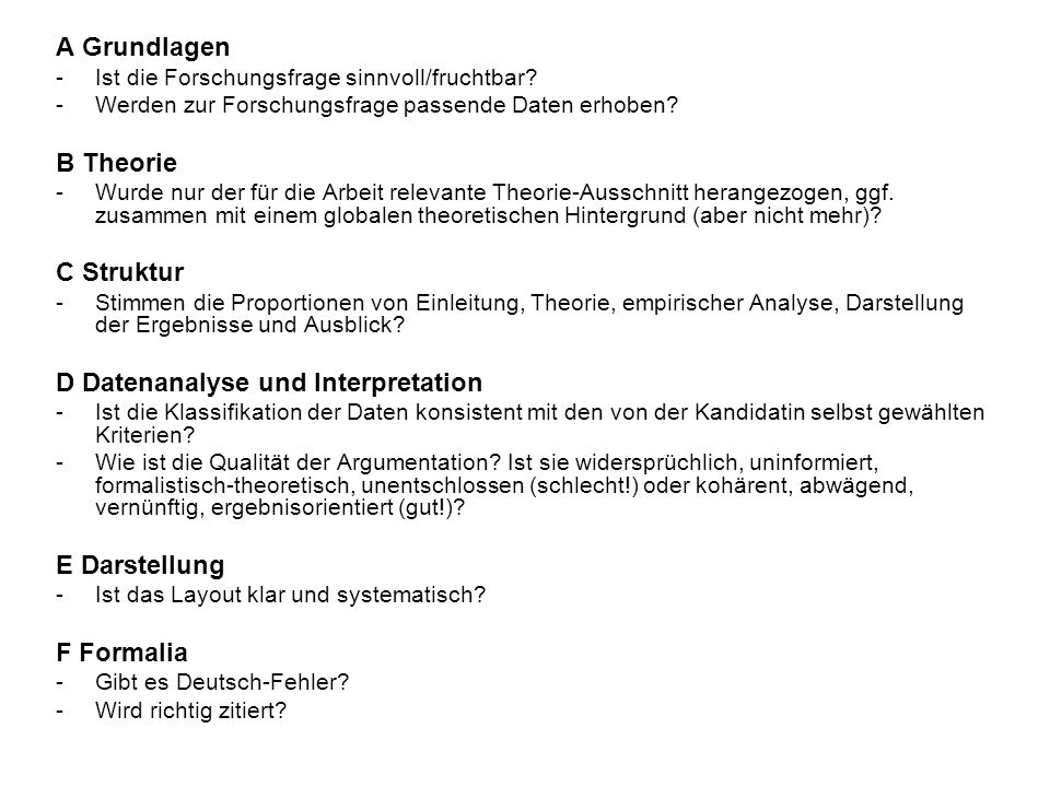 D Datenanalyse und Interpretation