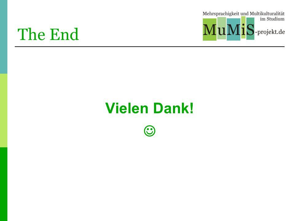 The End Vielen Dank! 