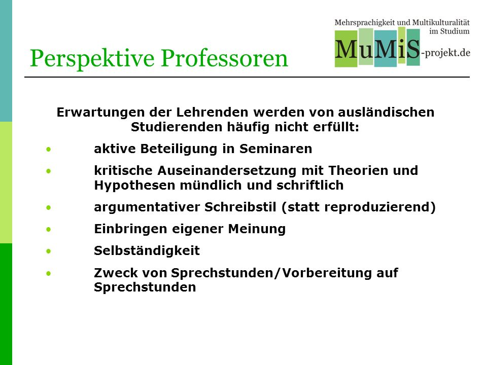 Perspektive Professoren