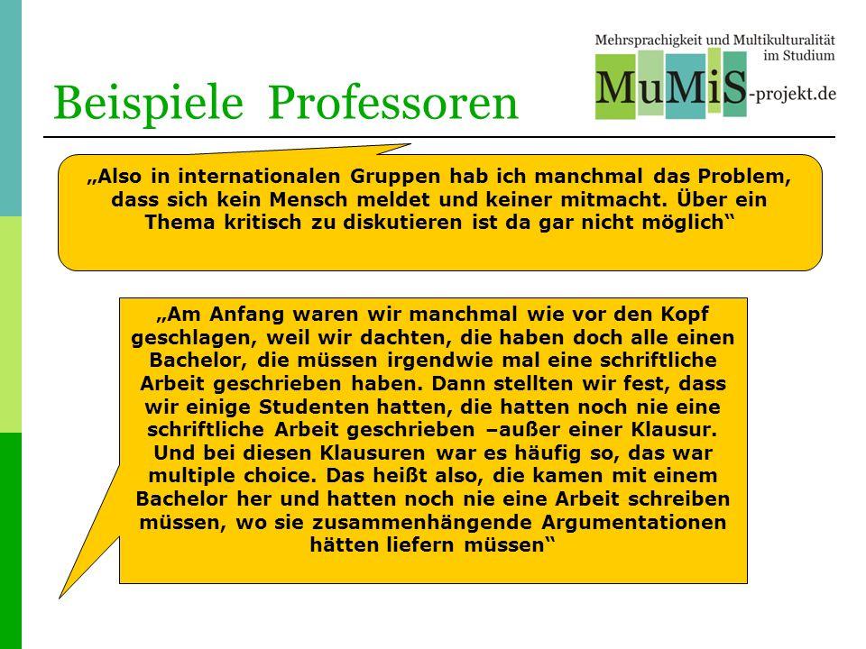 Beispiele Professoren