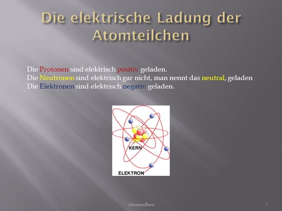 Die elektrische Ladung der Atomteilchen