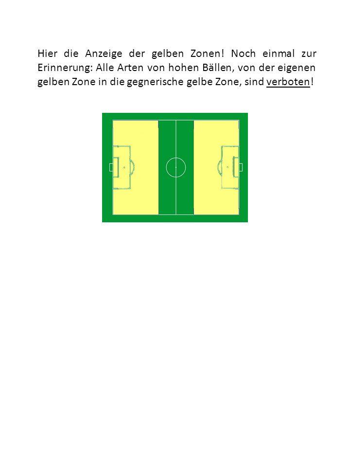 Hier die Anzeige der gelben Zonen