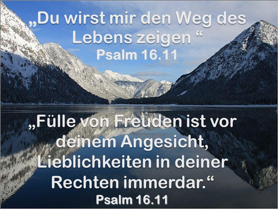"""""""Du wirst mir den Weg des Lebens zeigen Psalm 16.11"""