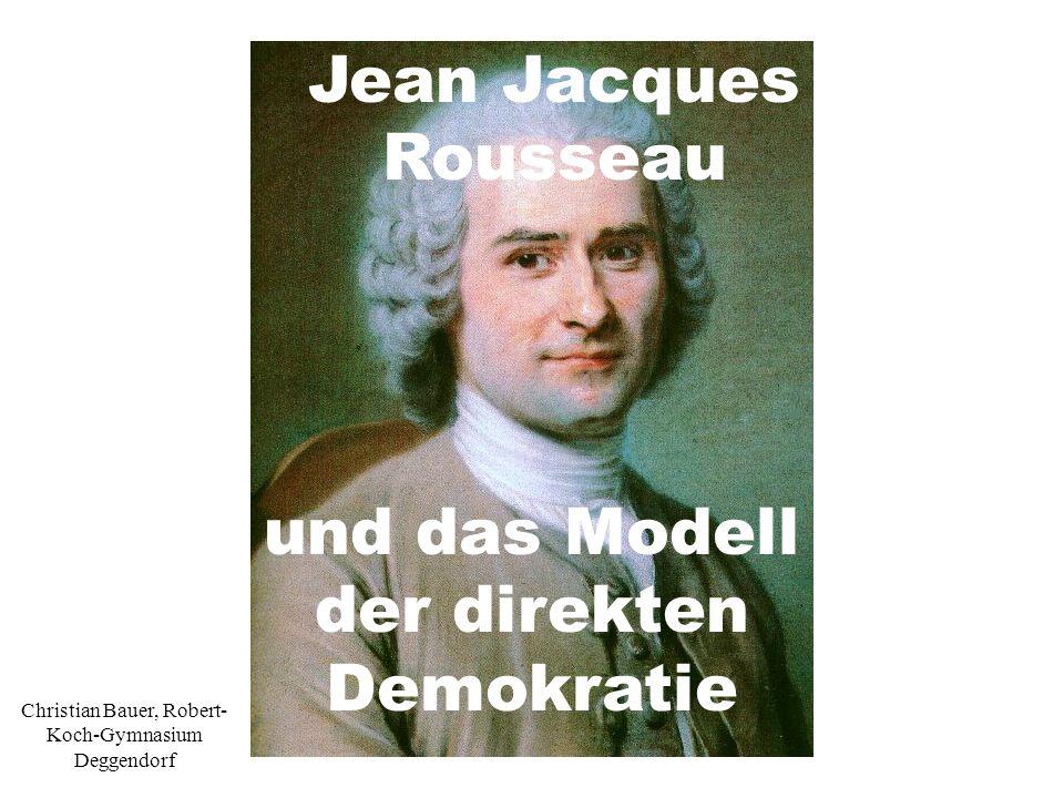 und das Modell der direkten Demokratie