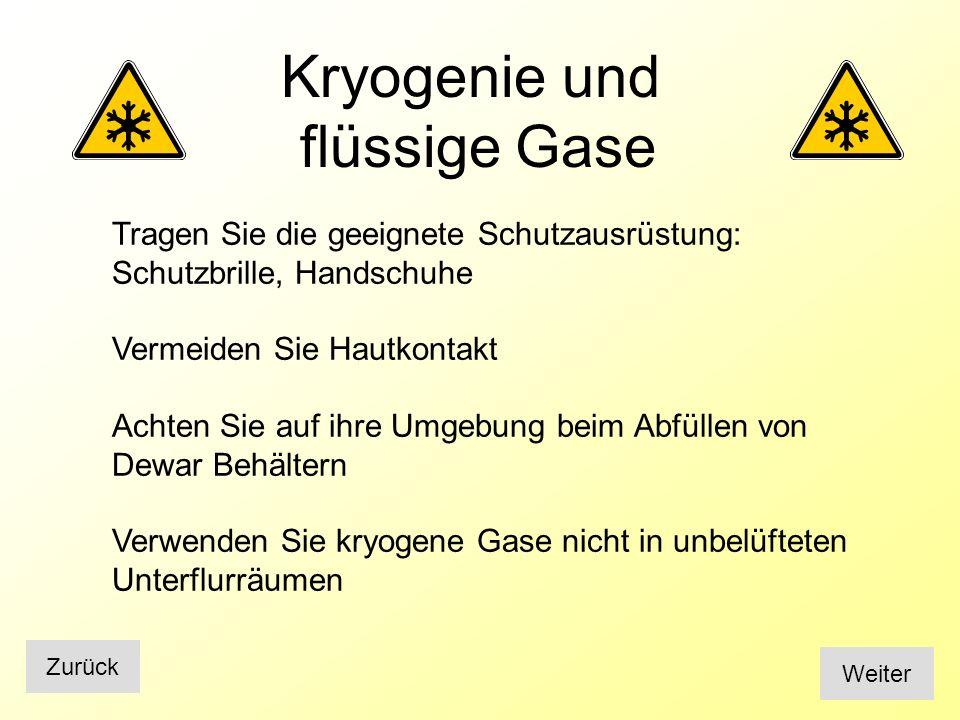 Kryogenie und flüssige Gase
