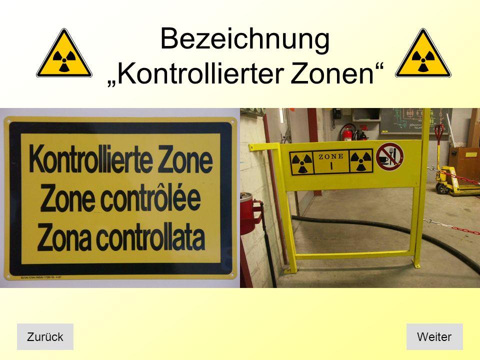 """Bezeichnung """"Kontrollierter Zonen"""