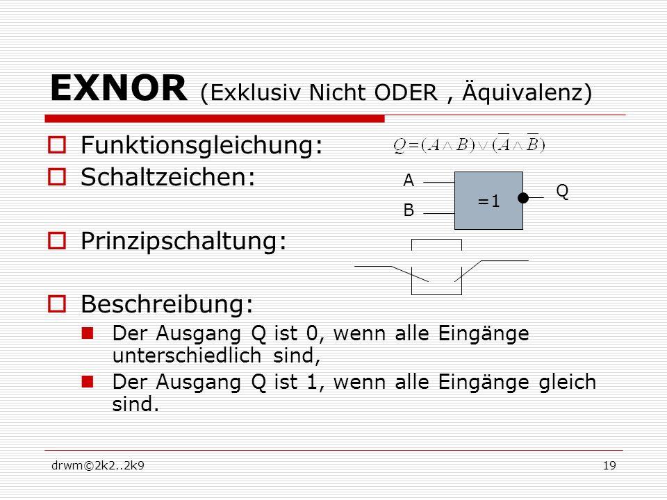 EXNOR (Exklusiv Nicht ODER , Äquivalenz)