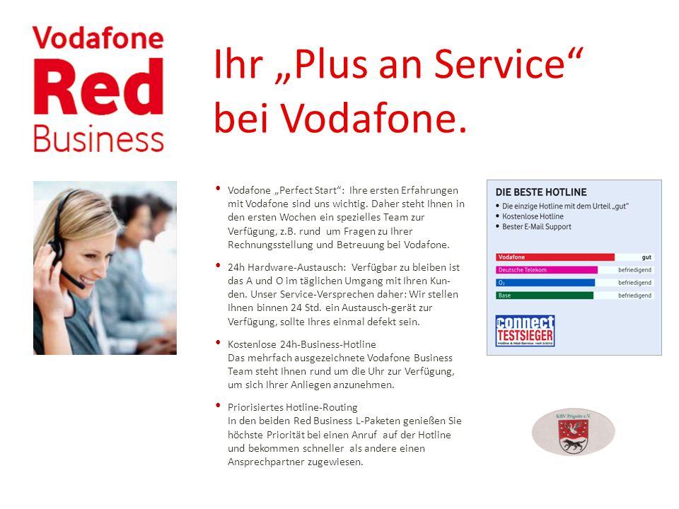 """Ihr """"Plus an Service bei Vodafone."""