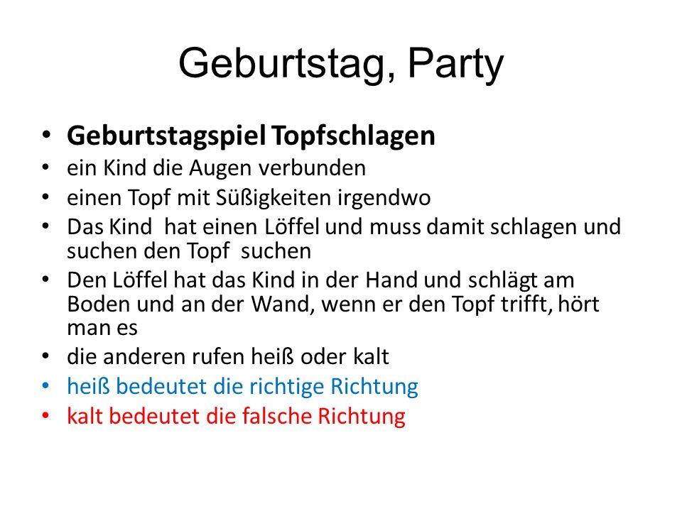 Geburtstag, Party Geburtstagspiel Topfschlagen