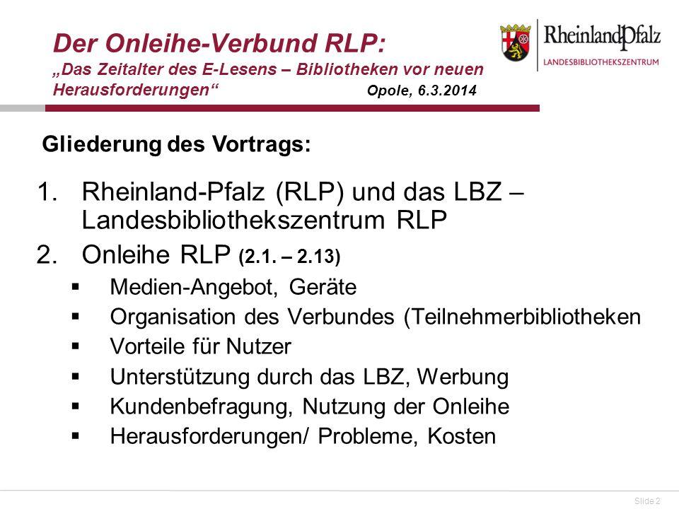 Rheinland-Pfalz (RLP) und das LBZ – Landesbibliothekszentrum RLP