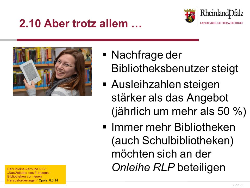 Nachfrage der Bibliotheksbenutzer steigt