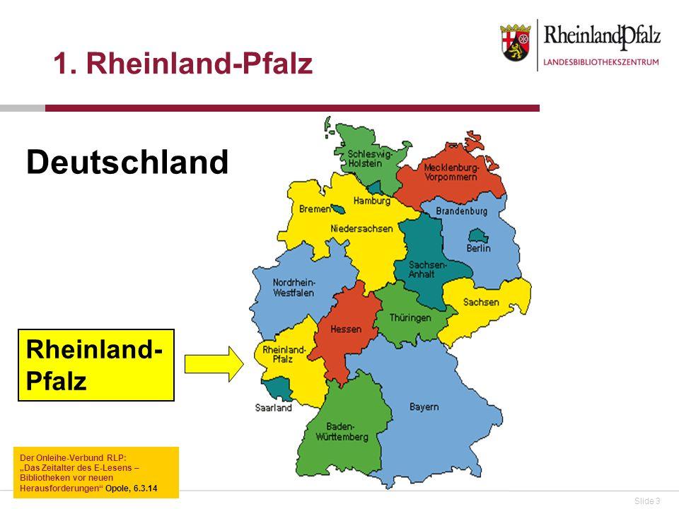 Deutschland 1. Rheinland-Pfalz Rheinland-Pfalz