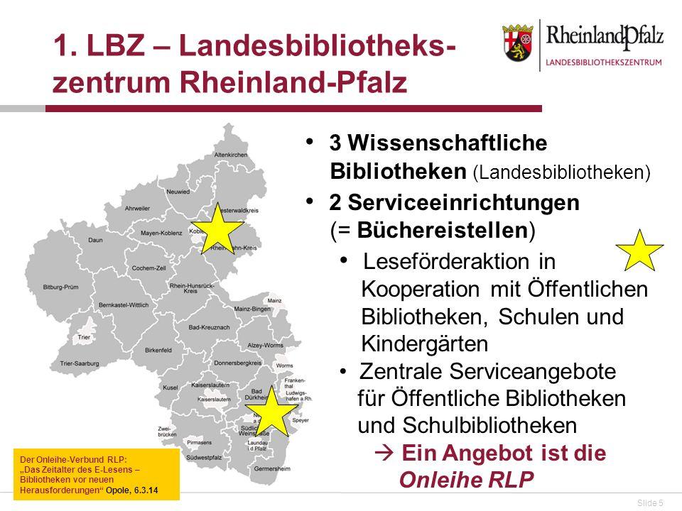 1. LBZ – Landesbibliotheks-zentrum Rheinland-Pfalz