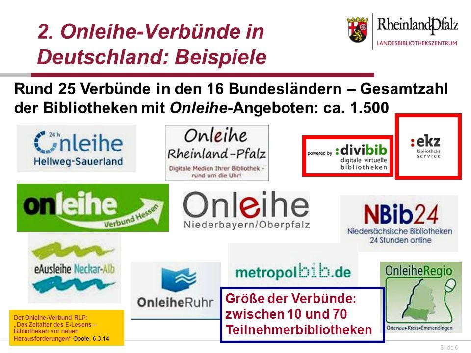 2. Onleihe-Verbünde in Deutschland: Beispiele