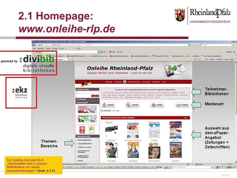 2.1 Homepage: www.onleihe-rlp.de