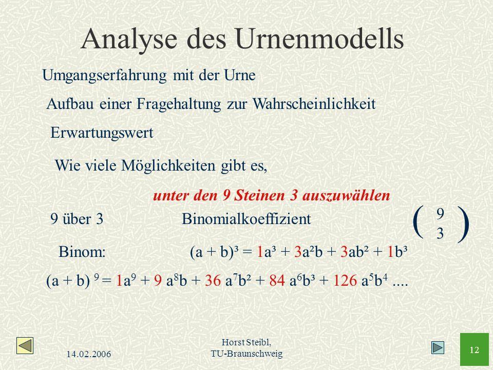 Analyse des Urnenmodells