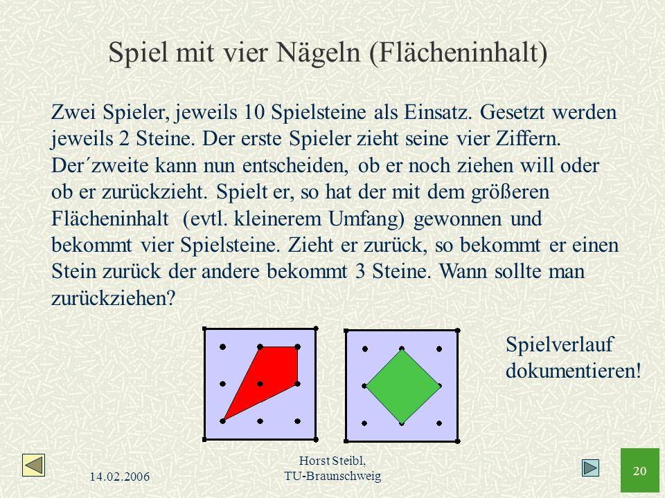 Spiel mit vier Nägeln (Flächeninhalt)