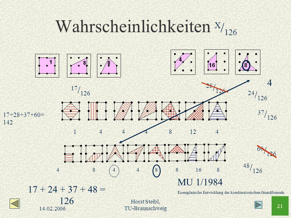 Wahrscheinlichkeiten X/126
