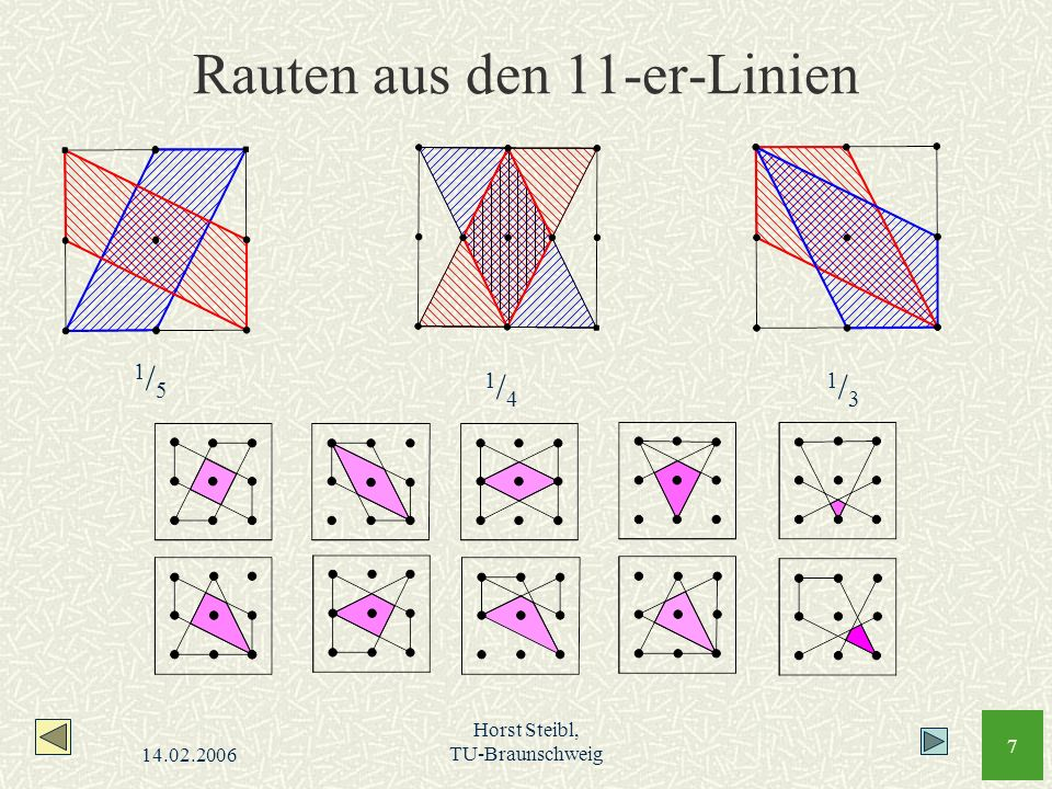 Rauten aus den 11-er-Linien