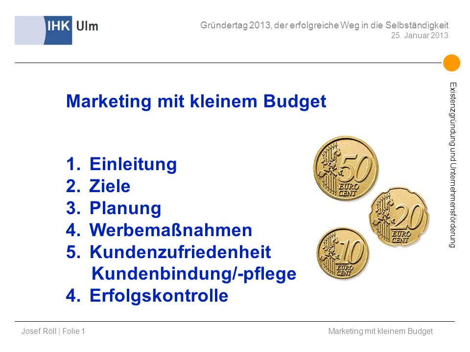 Marketing mit kleinem Budget