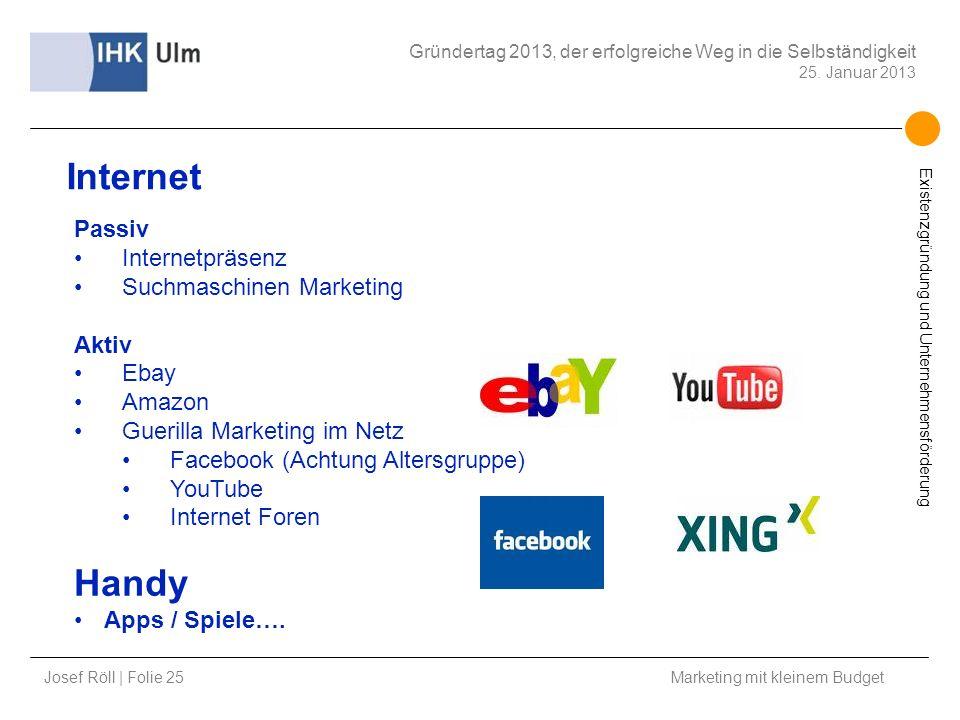 Internet Handy Passiv Internetpräsenz Suchmaschinen Marketing Aktiv