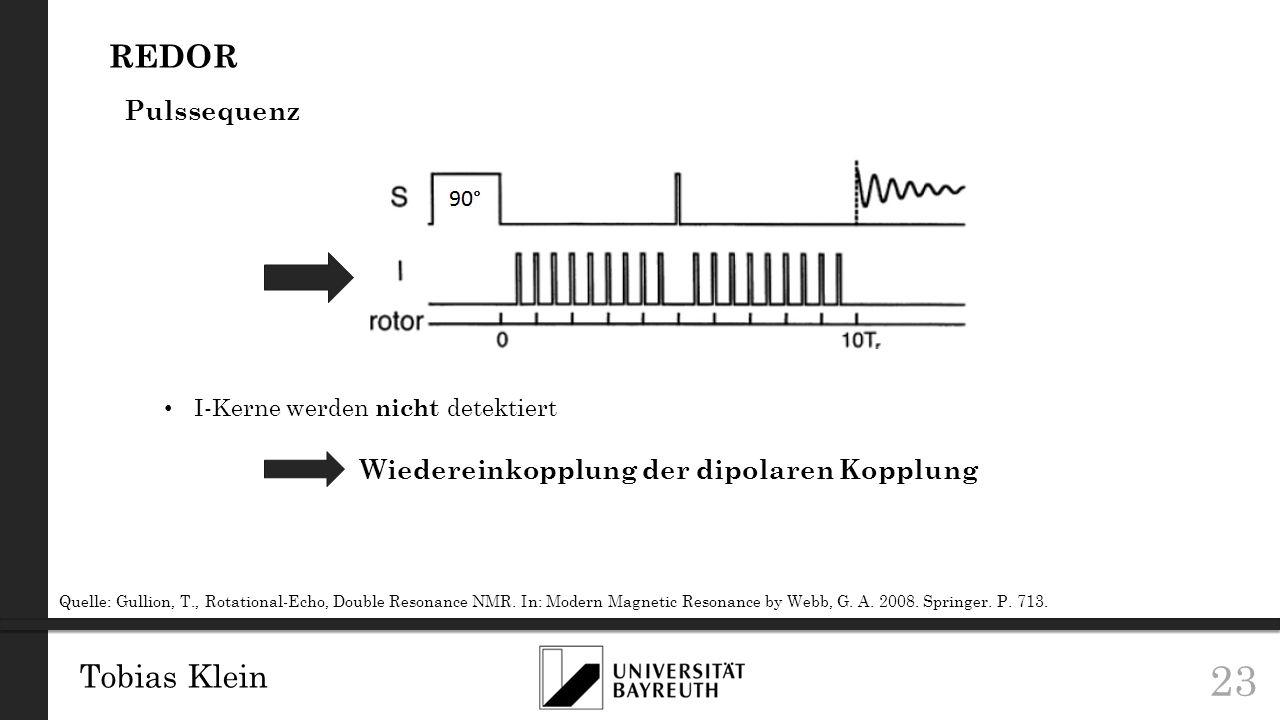 Wiedereinkopplung der dipolaren Kopplung