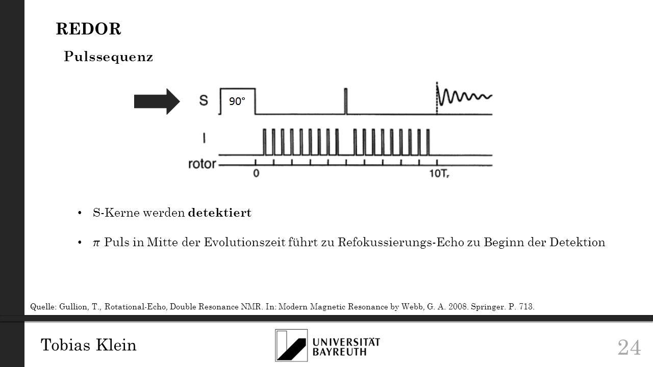 REDOR Tobias Klein Pulssequenz S-Kerne werden detektiert