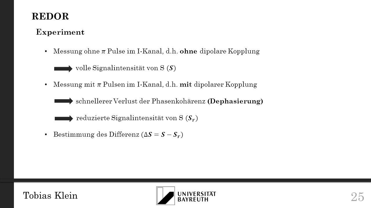 REDOR Tobias Klein Experiment