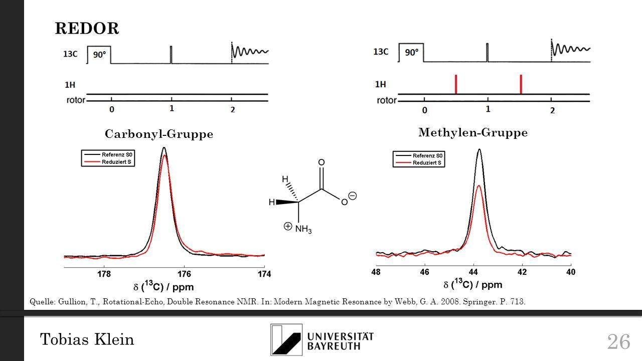 REDOR Tobias Klein Methylen-Gruppe Carbonyl-Gruppe