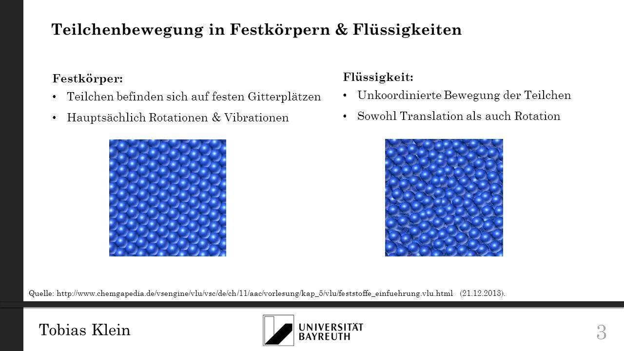Teilchenbewegung in Festkörpern & Flüssigkeiten