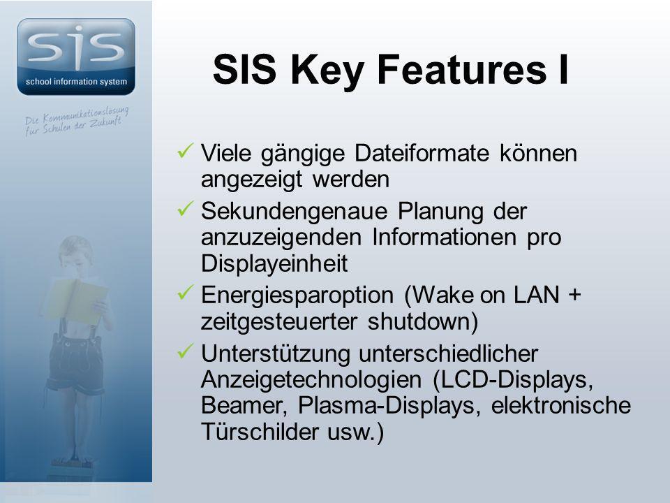 SIS Key Features I Viele gängige Dateiformate können angezeigt werden