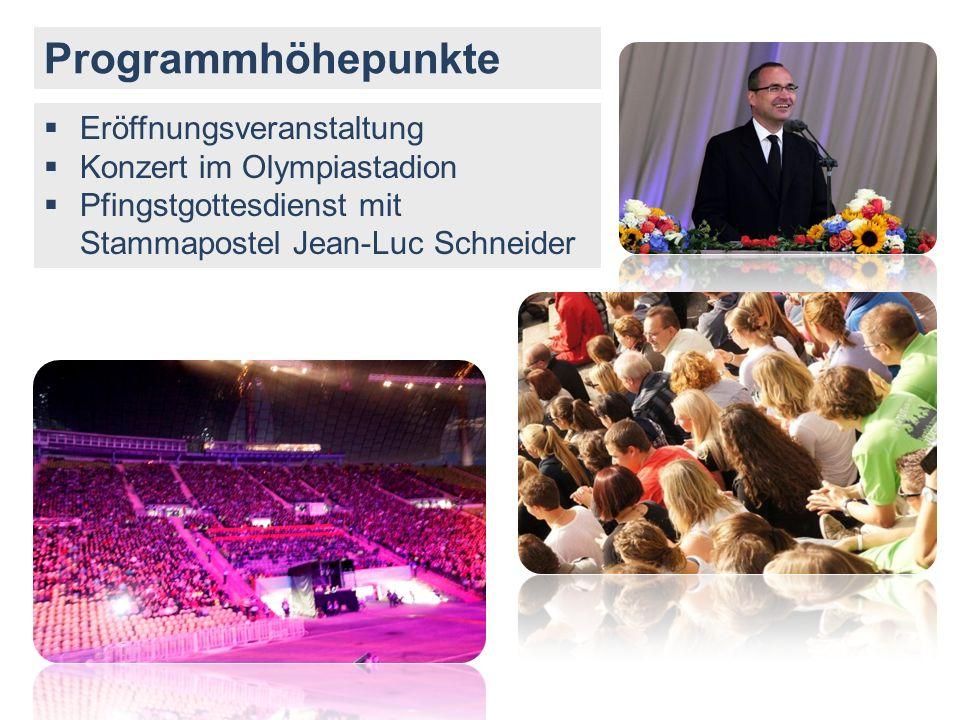 Programmhöhepunkte Eröffnungsveranstaltung Konzert im Olympiastadion