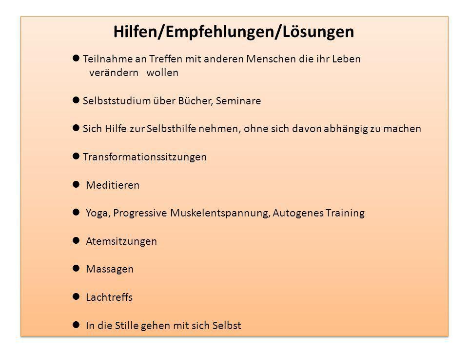 Hilfen/Empfehlungen/Lösungen