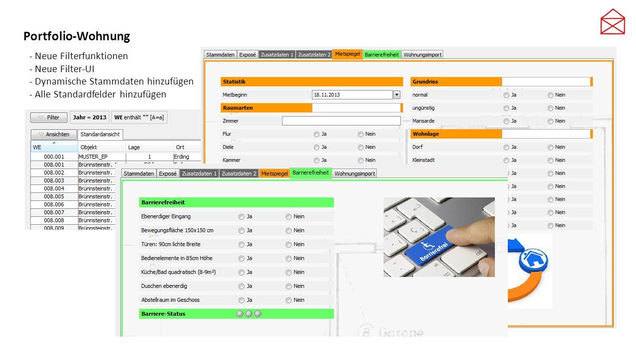 Portfolio-Wohnung - Neue Filterfunktionen - Neue Filter-UI