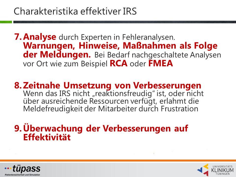Charakteristika effektiver IRS
