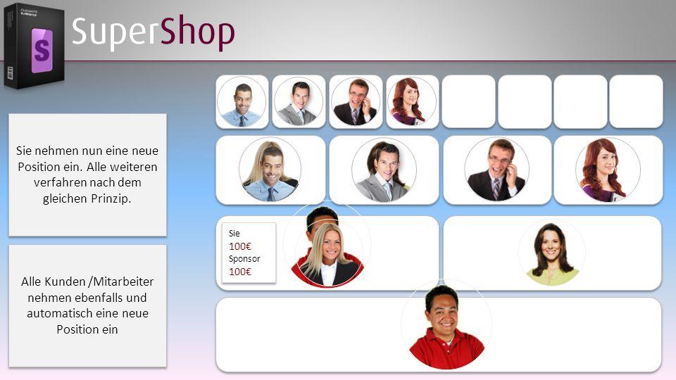 SuperShop Sie nehmen nun eine neue Position ein. Alle weiteren verfahren nach dem gleichen Prinzip.