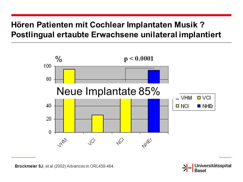 Neue Implantate 85% Literaturzitat