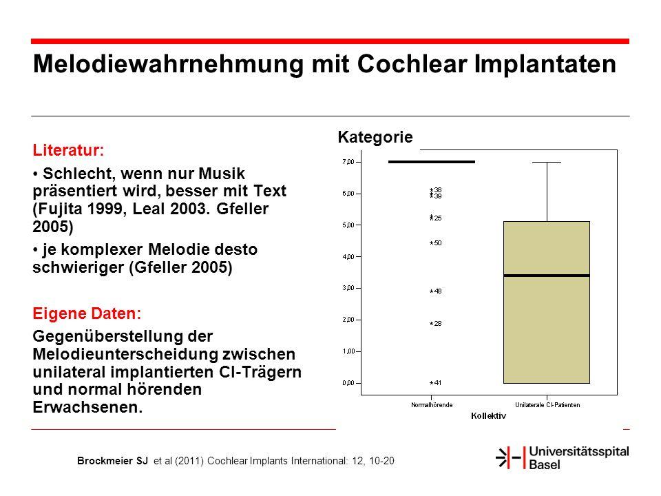 Melodiewahrnehmung mit Cochlear Implantaten