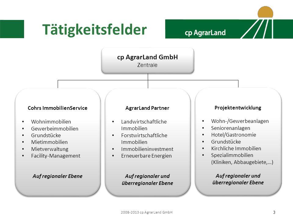 Tätigkeitsfelder cp AgrarLand GmbH Zentrale Cohrs ImmobilienService