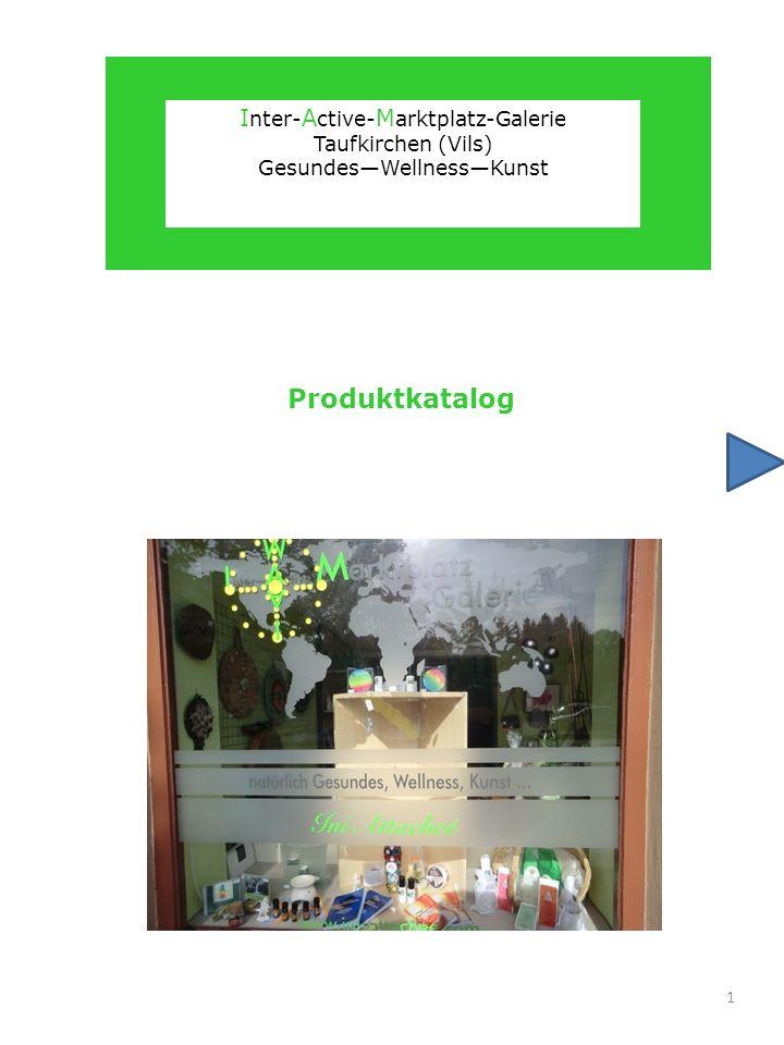 Produktkatalog Inter-Active-Marktplatz-Galerie Taufkirchen (Vils)