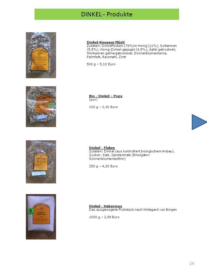 DINKEL - Produkte Dinkel-Knusper Müsli